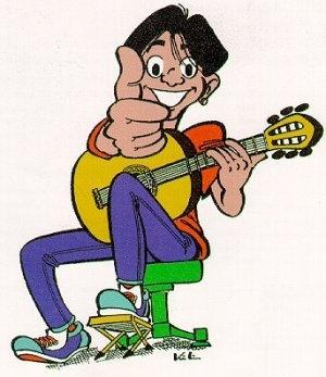ich spiele die gitarre
